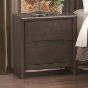 Homelegance Lavinia Contemporary 2-Drawer Nightstand