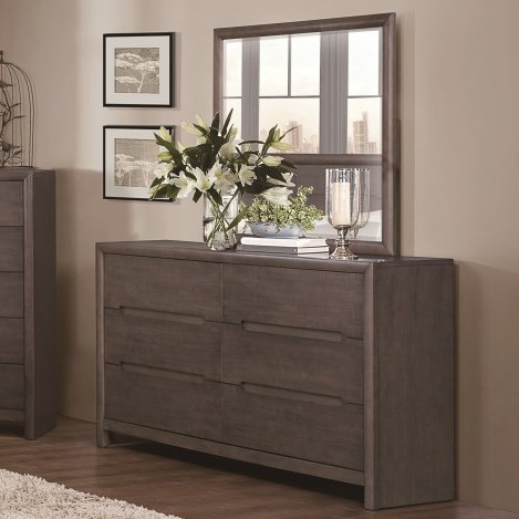 Homelegance Lavinia Contemporary Dresser and Mirror - Item Number: 1806-5+6