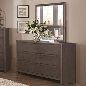 Homelegance Lavinia Contemporary Dresser and Mirror