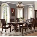 Homelegance Lordsburg Table and Chair Set - Item Number: 5473-103+103B+2xA+4xS