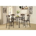 Homelegance Loyalton Counter Height Table and Chair Set - Item Number: 5149-36+4x24