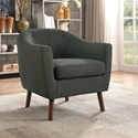 Homelegance Lucille Accent Chair - Item Number: 1192GY