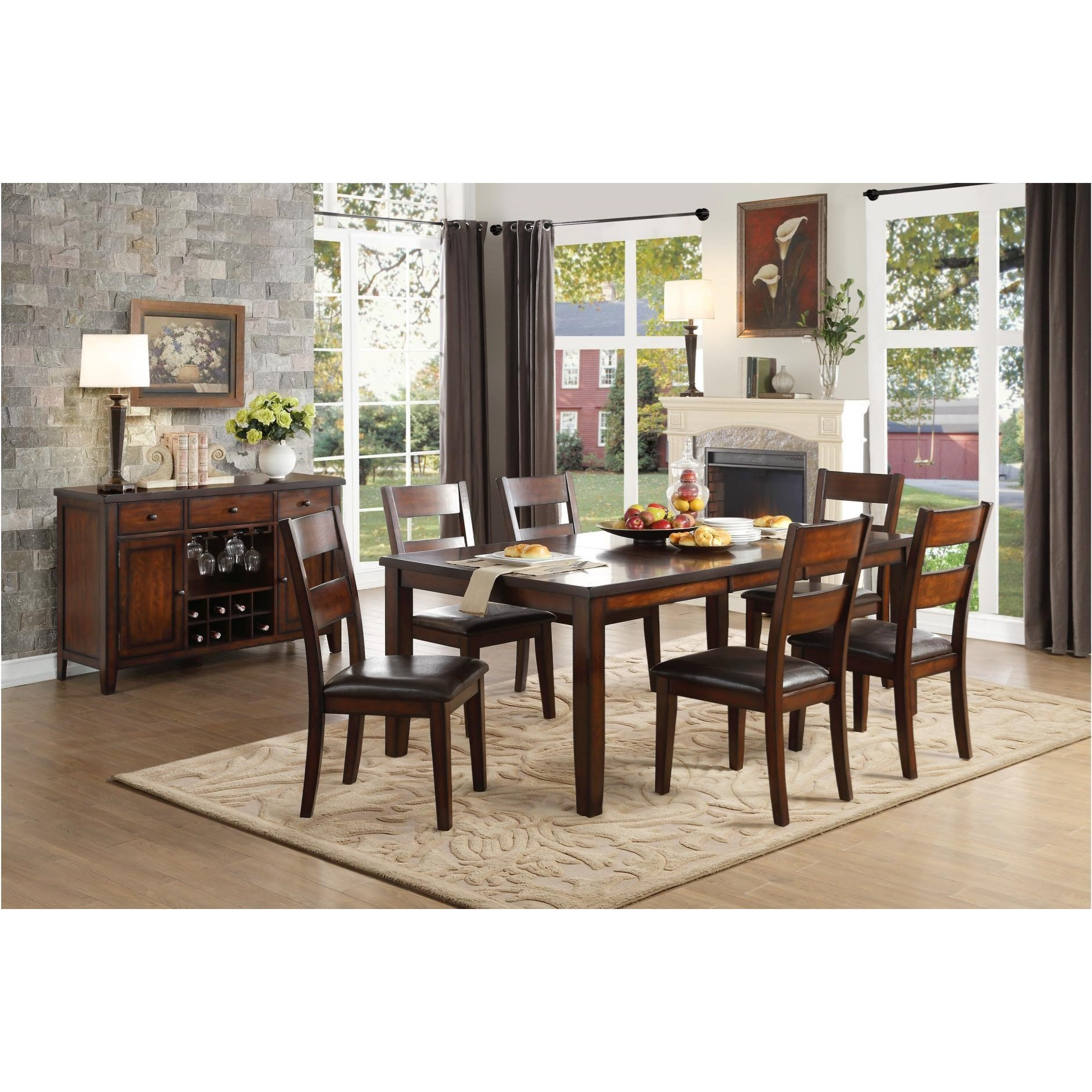 City Furniture Dining Room: Homelegance Mantello Dining Room Group