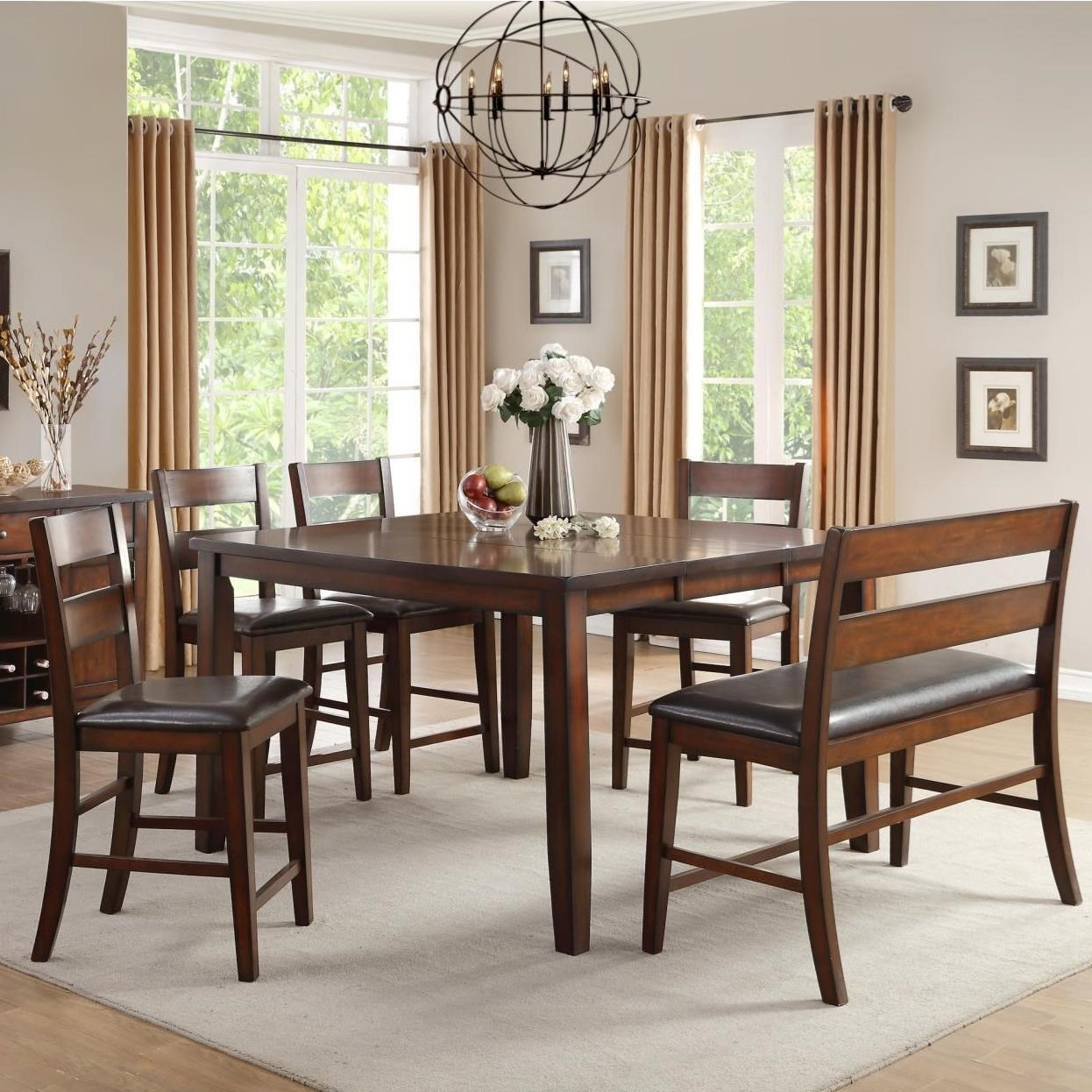 Homelegance Mantello Counter Height Table Amp Chair Set With