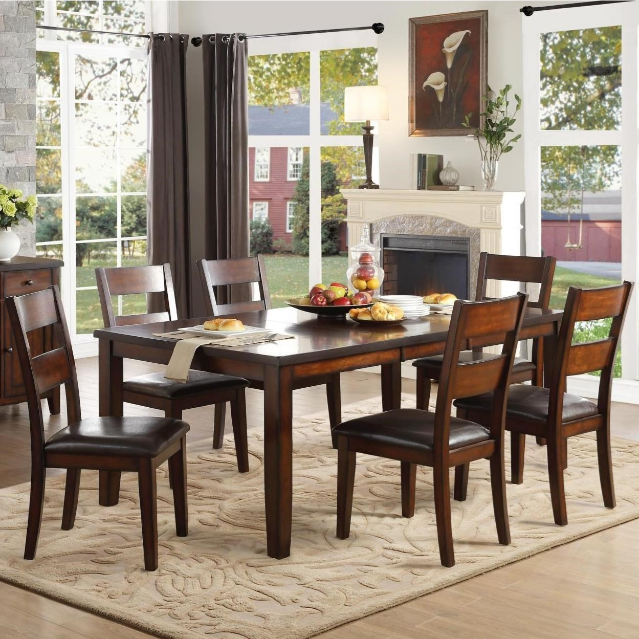Homelegance Mantello Transitional Dining Table With Table