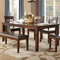 Homelegance Mantello Dining Table - Item Number: 5547-78