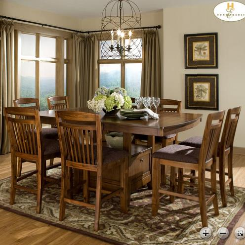 Homelegance Marcel Counter Height Table Set - Item Number: 2489-36XL+8x24