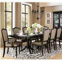 Homelegance Marston 9 Piece Table and Chair Set - Item Number: 2615DC-96+2xCA+6xCS