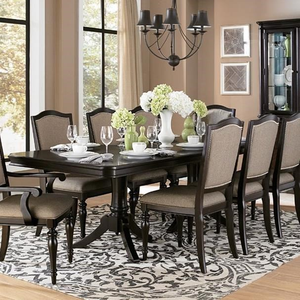 Homelegance Marston Dining Table - Item Number: 2615DC-96+B