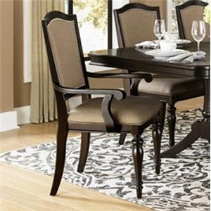 Dining Arm Chair w/ Upholstered Seat and Ba