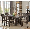 Homelegance Mattawa 7-Piece Table and Chair Set - Item Number: 5518-78+78B+6xS