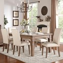 Homelegance Mill Valley Dining Table and Chair Set - Item Number: 5108-84+6xS