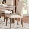 Homelegance Mill Valley Upholstered Dining Side Chair - Item Number: 5108S