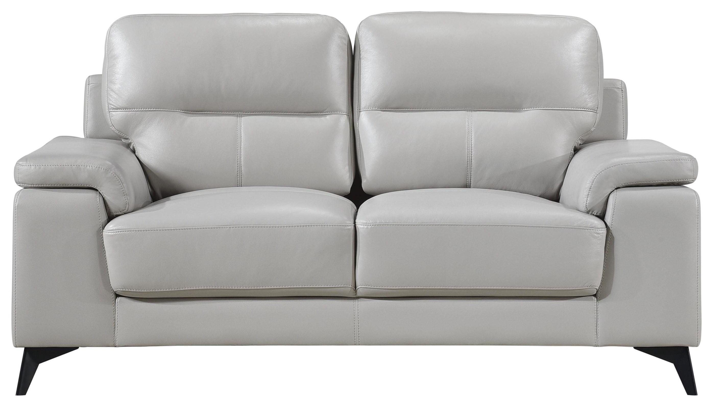 Homelegance Mischa Contemporary Leather Match Loveseat Darvin Furniture Loveseats
