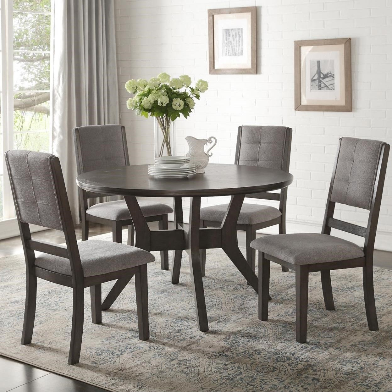Standard Furniture Cosmo 5 Piece Round Coffee Table Set W: Homelegance Nisky Transitional Five Piece Chair And Table