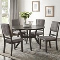 Homelegance Nisky 5 Piece Chair & Table Set - Item Number: 5165GY-48+4xGYS