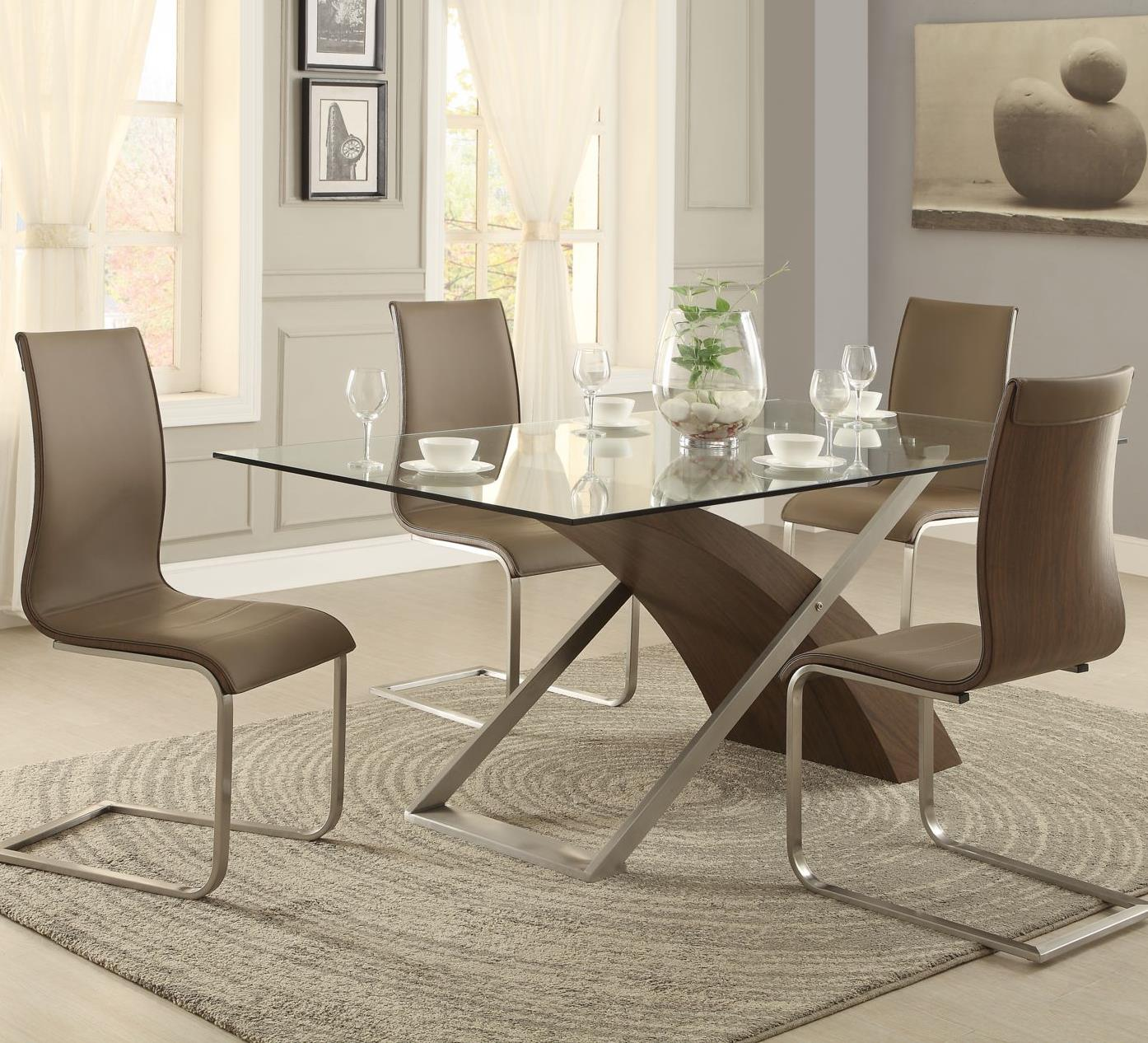 Homelegance Odeon 5 Piece Dining Set - Item Number: 5261G+WB+MB+4x5261S-2P