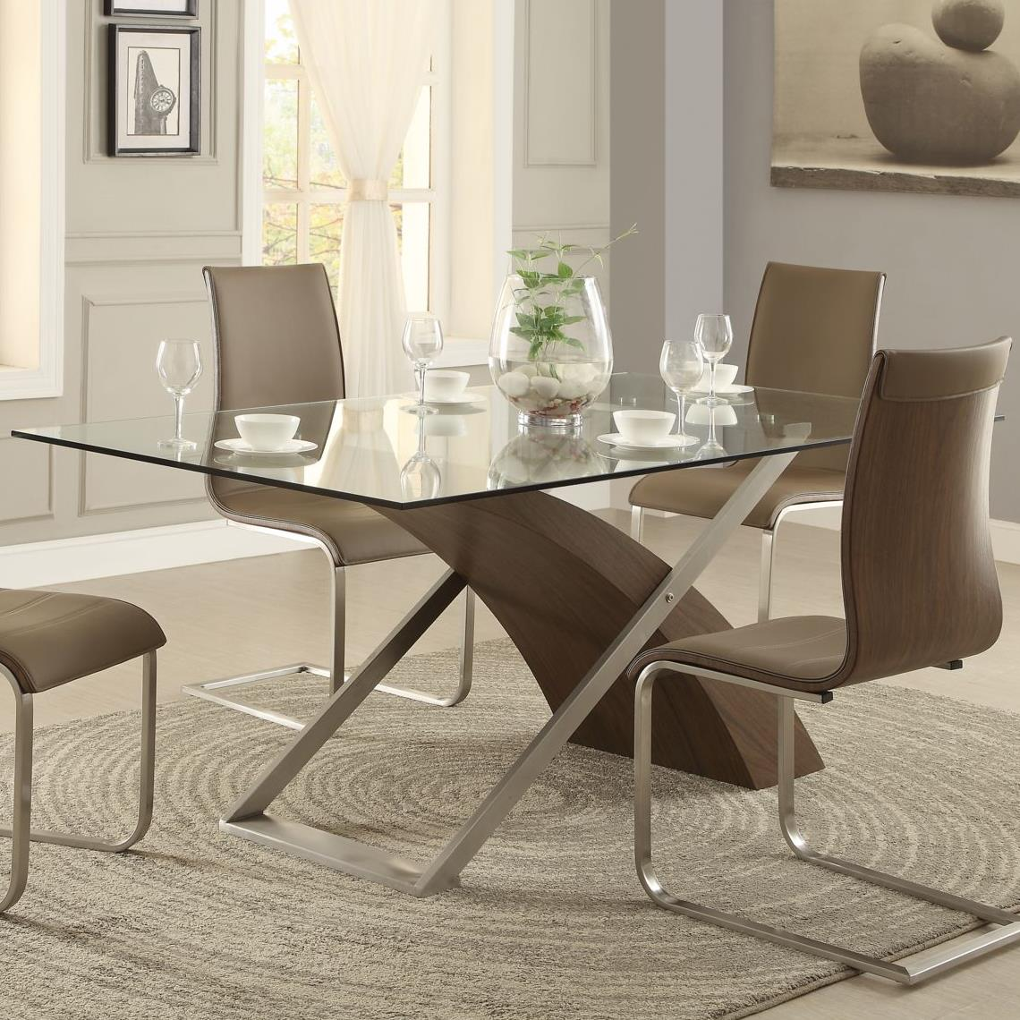 Homelegance Odeon Dining Table - Item Number: 5261G+WB+MB