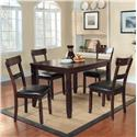 Homelegance Oklahoma 5 Piece Table & Chair Set - Item Number: 2469