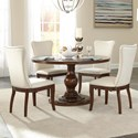 Homelegance Oratorio Five Piece Chair & Table Set - Item Number: 5562RF-54+B+C+40+4xS