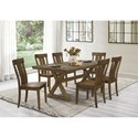 Homelegance Ormond 7-Piece Table and Chair Set - Item Number: 5726-78+6x5726S