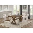 Homelegance Ormond 7-Piece Table and Chair Set - Item Number: 5726-78+6x5726WHS