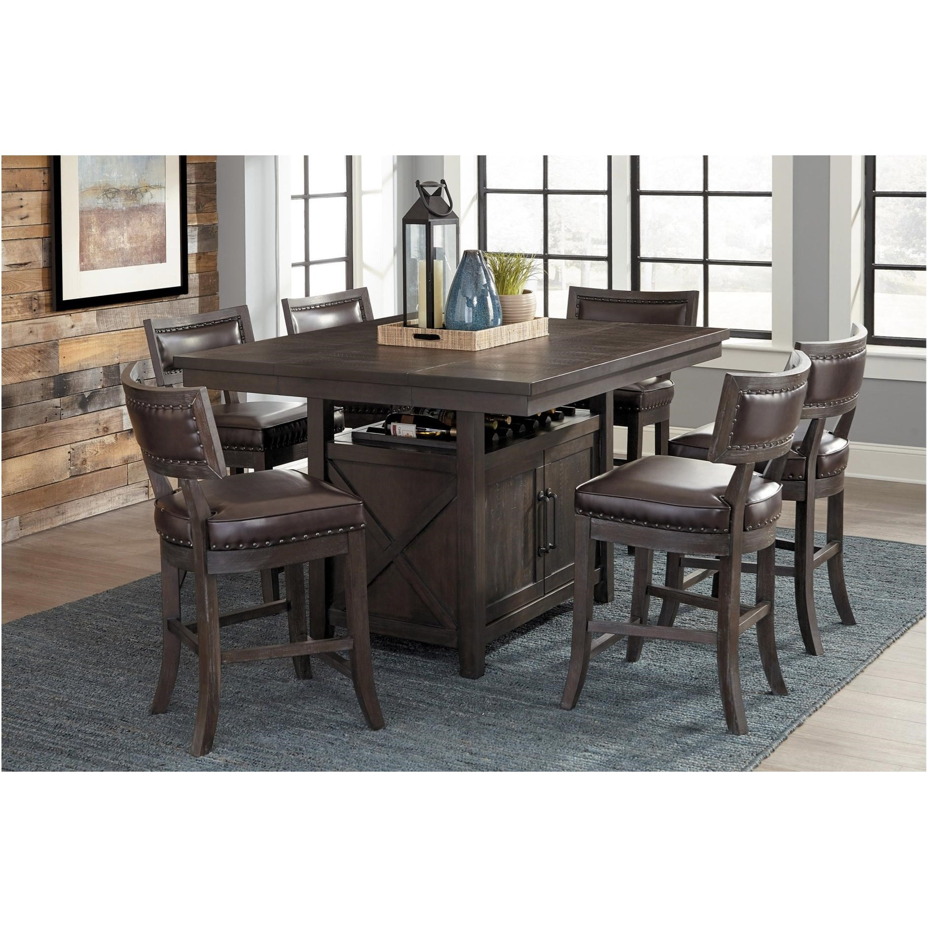 Homelegance Oxton Counter Height Table Set for 9   Value City ...