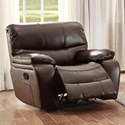 Homelegance Pecos Casual Recliner - Item Number: 8480BRW-1