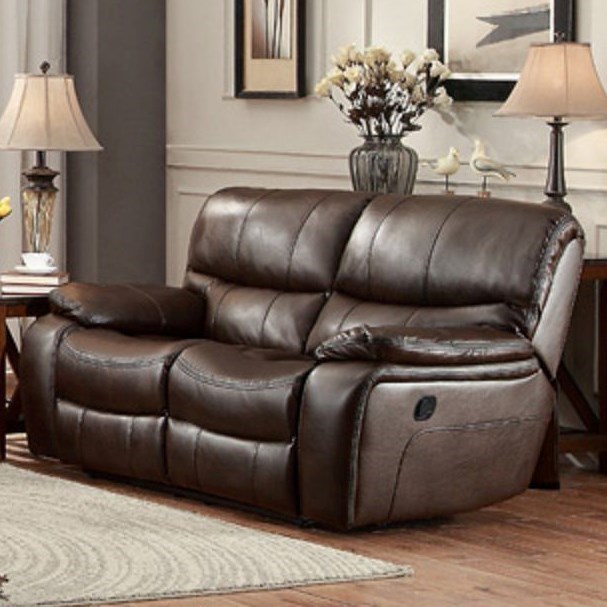 Homelegance Pecos Casual Reclining Loveseat - Item Number: 8480BRW-2