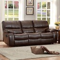 Homelegance Pecos Casual Power Reclining Sofa - Item Number: 8480BRW-3PW