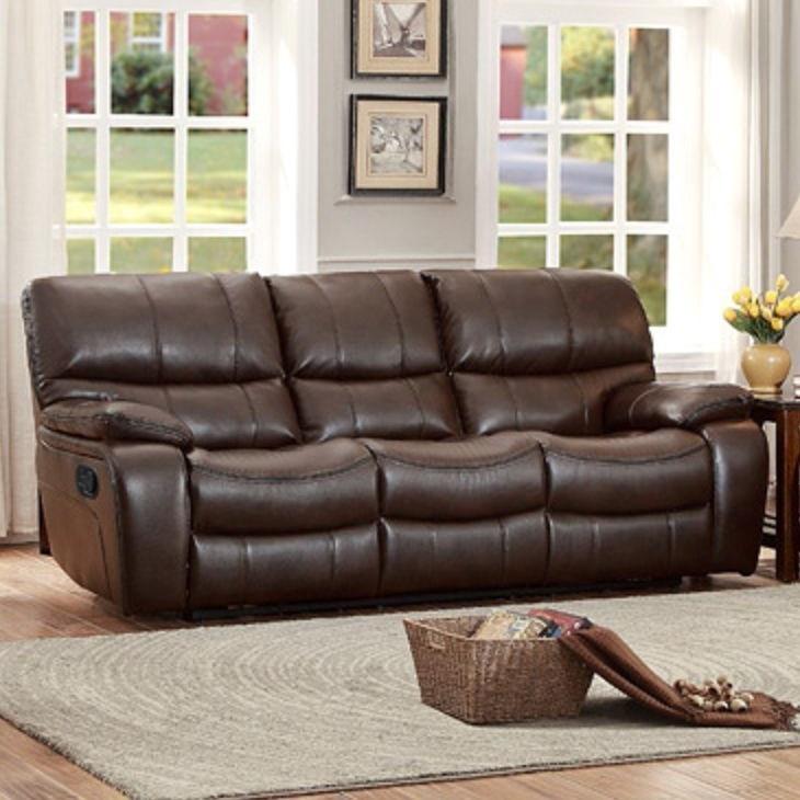 Homelegance Pecos Casual Reclining Sofa - Item Number: 8480BRW