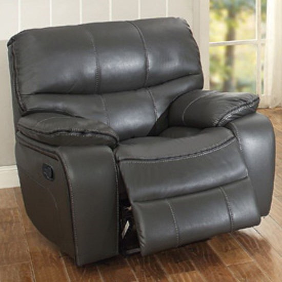 Homelegance Pecos Casual Recliner - Item Number: 8480GRY-1