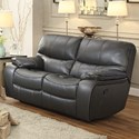 Homelegance Pecos Casual Reclining Loveseat - Item Number: 8480GRY-2