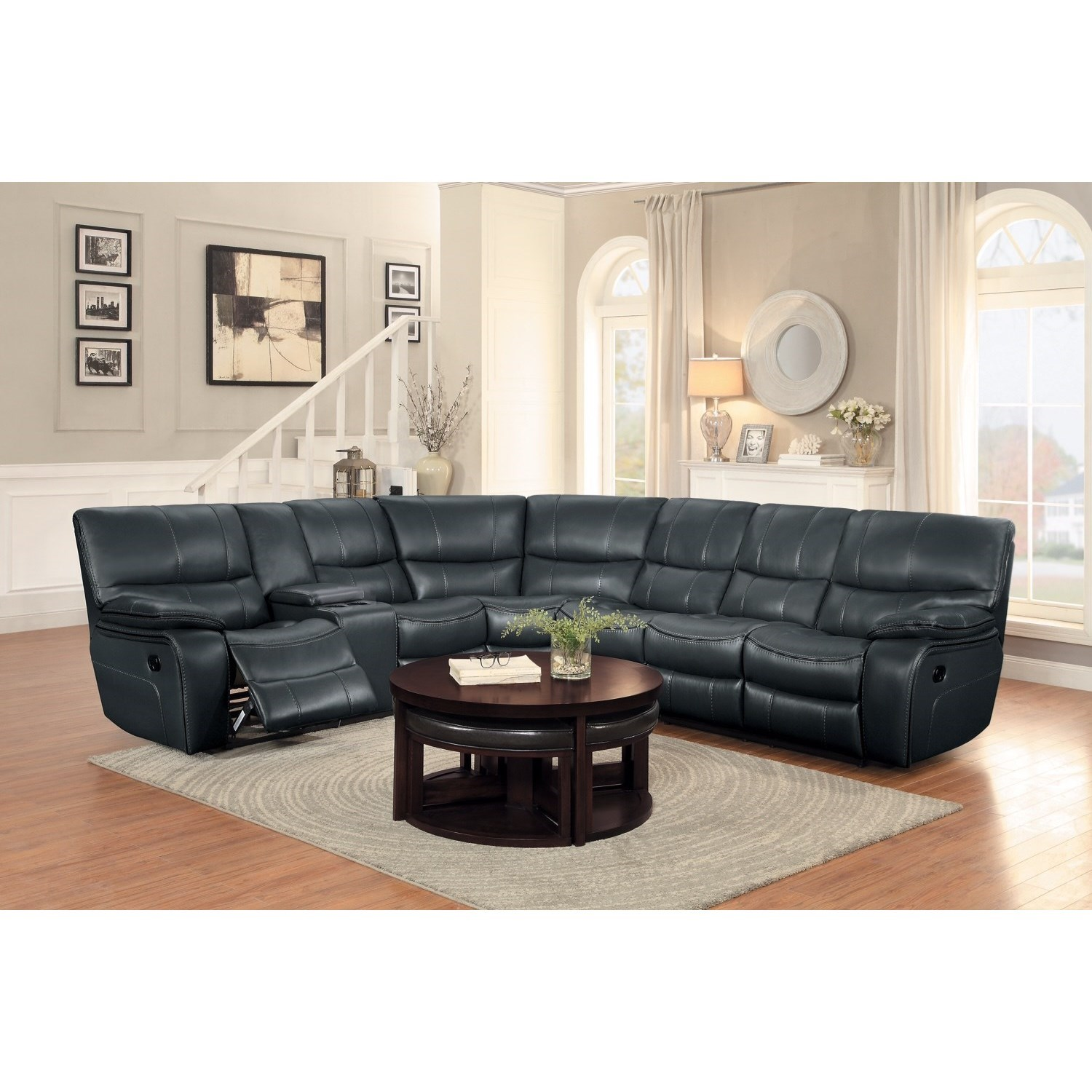 Homelegance Pecos Casual Sectional Sofa with Console and