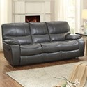Homelegance Pecos Casual Reclining Sofa - Item Number: 8480GRY-3
