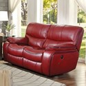 Homelegance Pecos Casual Power Reclining Love Seat - Item Number: 8480RED-2PW