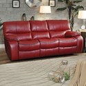 Homelegance Pecos Casual Power Reclining Sofa - Item Number: 8480RED-3PW
