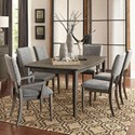 Homelegance Roux 7-Piece Table and Chair Set - Item Number: 5568-78+2xA+4xS