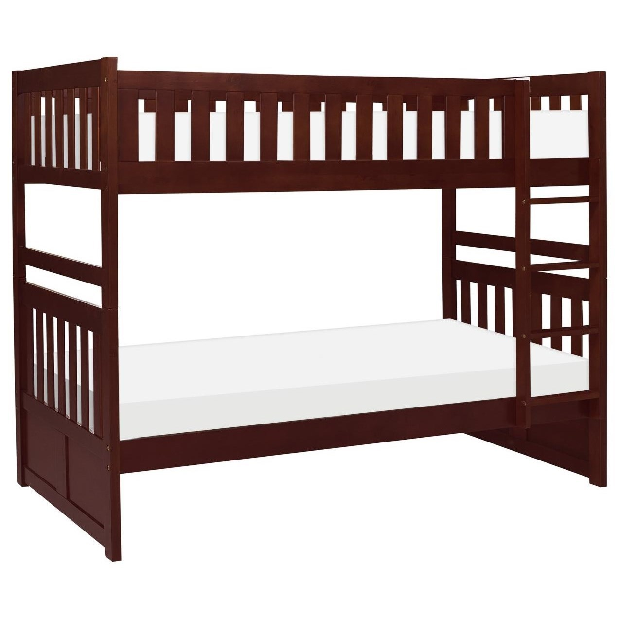 new style a3636 36d61 Rowe Twin Bunk Bed with Slats by Homelegance at Darvin Furniture