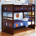 Vendor 2258 Rowe Twin Bunk Bed - Item Number: B2013DC-1+2+SL