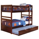 Homelegance Rowe Twin Over Twin Bunk Bed with Trundle - Item Number: B2013DC-1+2+SL