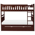 Homelegance Rowe Twin Over Twin Trundle Bunk Bed - Item Number: B2013DC-1+2+SL