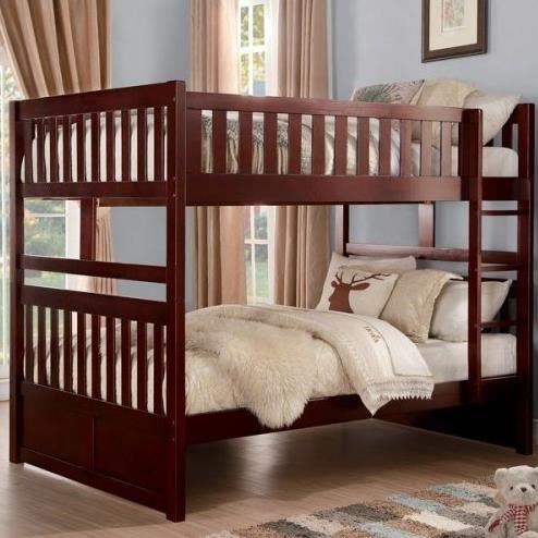 Homelegance Rowe Full Over Full Bunk Bed With Slats