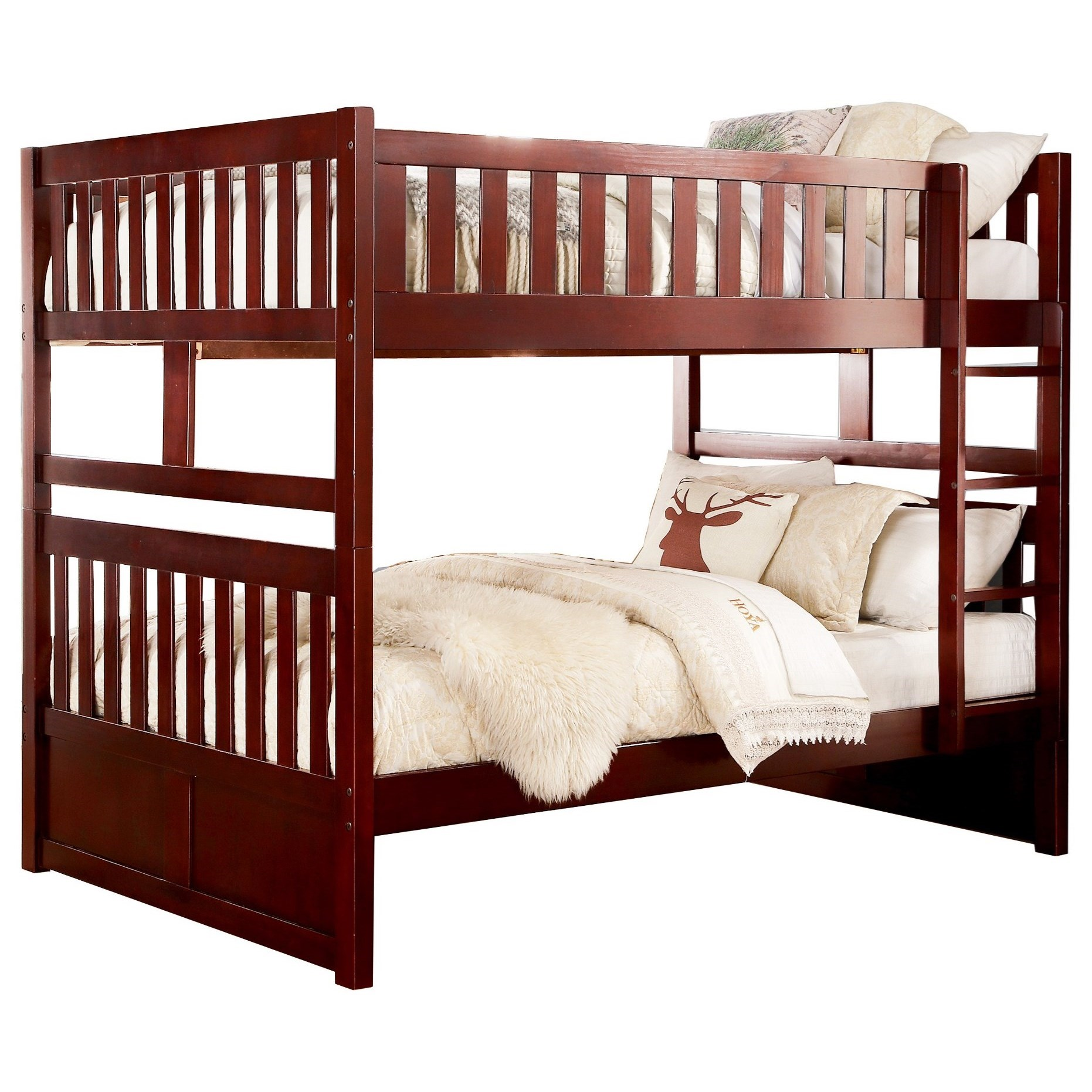 Rowe Full Over Full Bunk Bed by Homelegance at Beck's Furniture