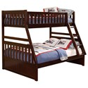 Homelegance Rowe Twin Over Full Bunk Bed - Item Number: B2013TFDC-1+2+SL