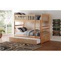 Homelegance Bartly Twin Over Twin Bunk Bed with Trundle - Item Number: B2043-1+2+SL+R