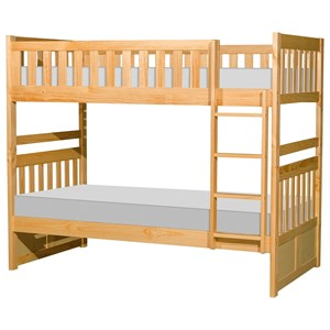 Homelegance Bartly Casual Twin Over Twin Bunk Bed With Trundle