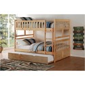 Homelegance Bartly Full Over Full Bunk Bed with Trundle Unit - Item Number: B2043FF-1+2+SL+R