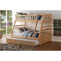 Homelegance Bartly Twin Over Full Bunk Bed - Item Number: B2043TF-1+2+SL+R
