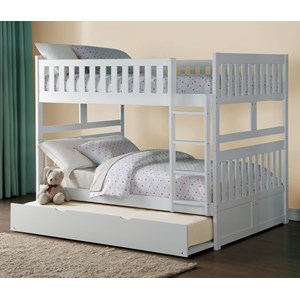 Full Over Full Bunk Bed with Trundle Unit